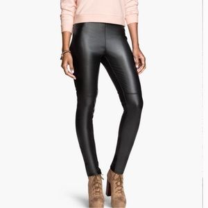 H&M skinny zipper ankle faux leather pants 10.